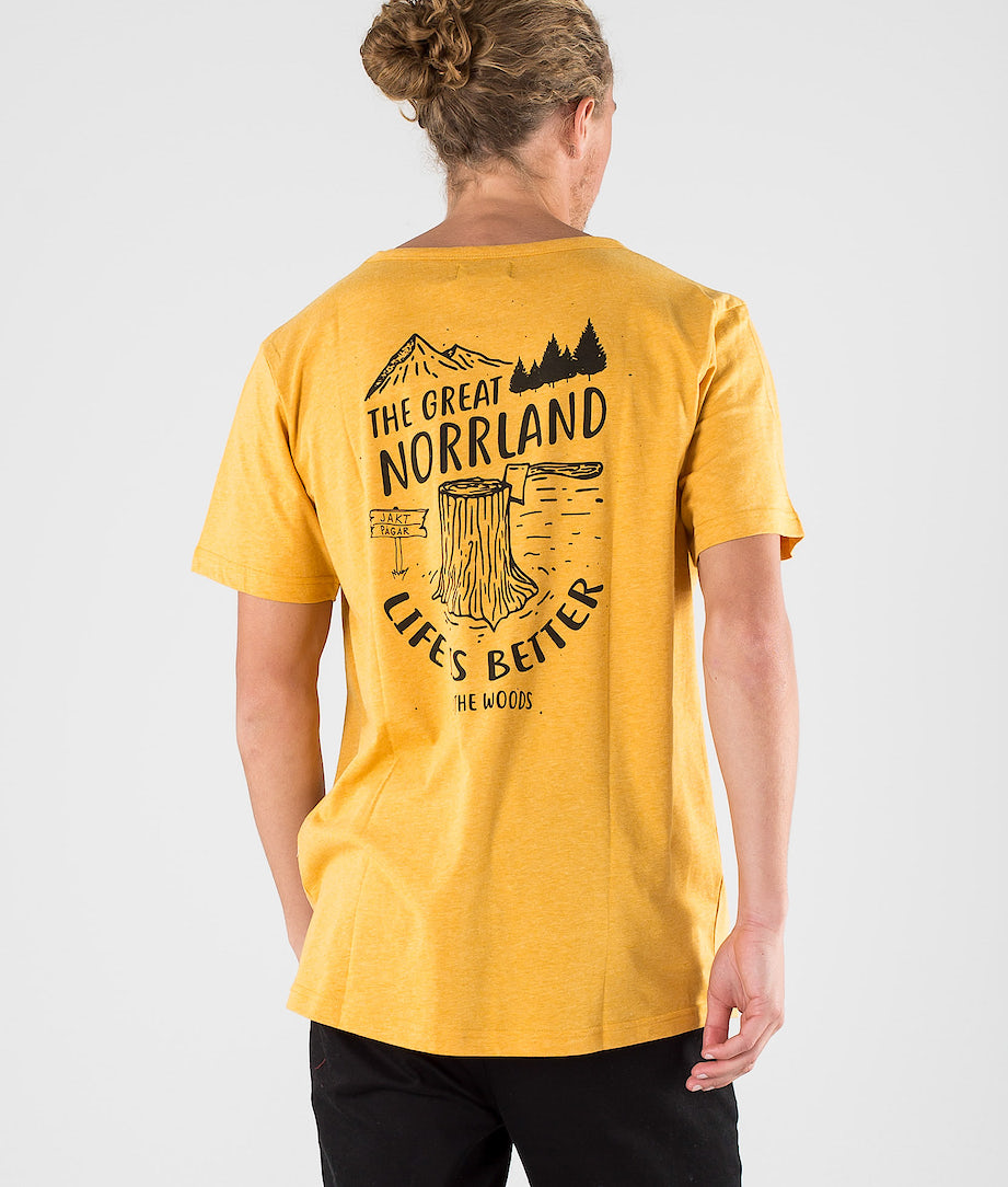 SQRTN Stock Pocket T-shirt Mustard