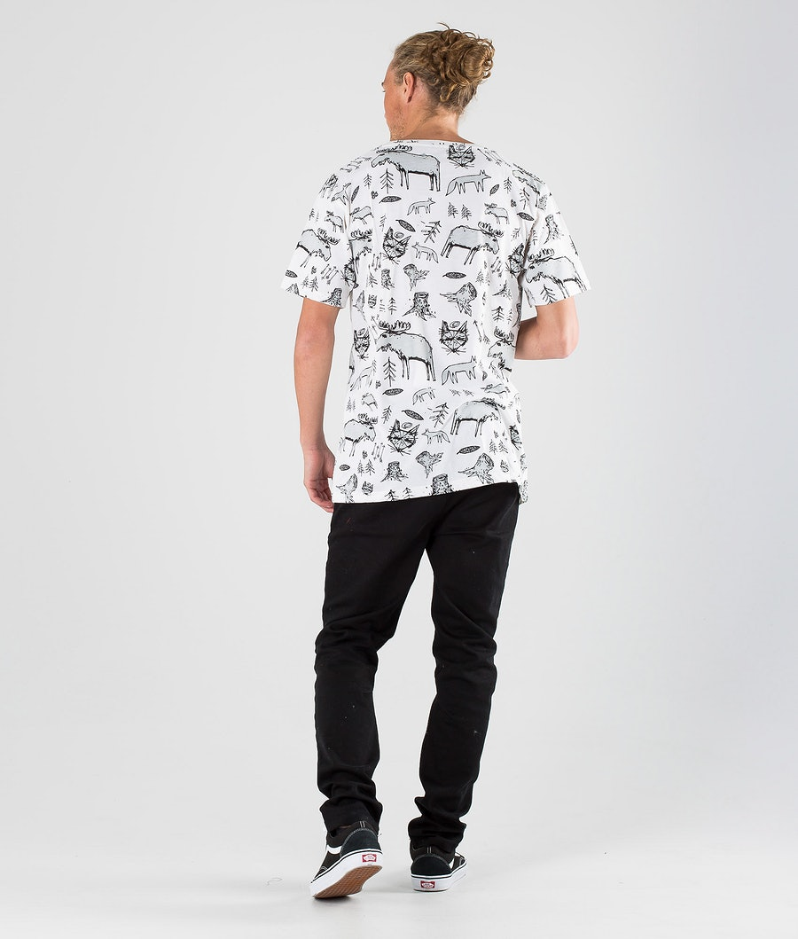 SQRTN Animal Pocket T-shirt White