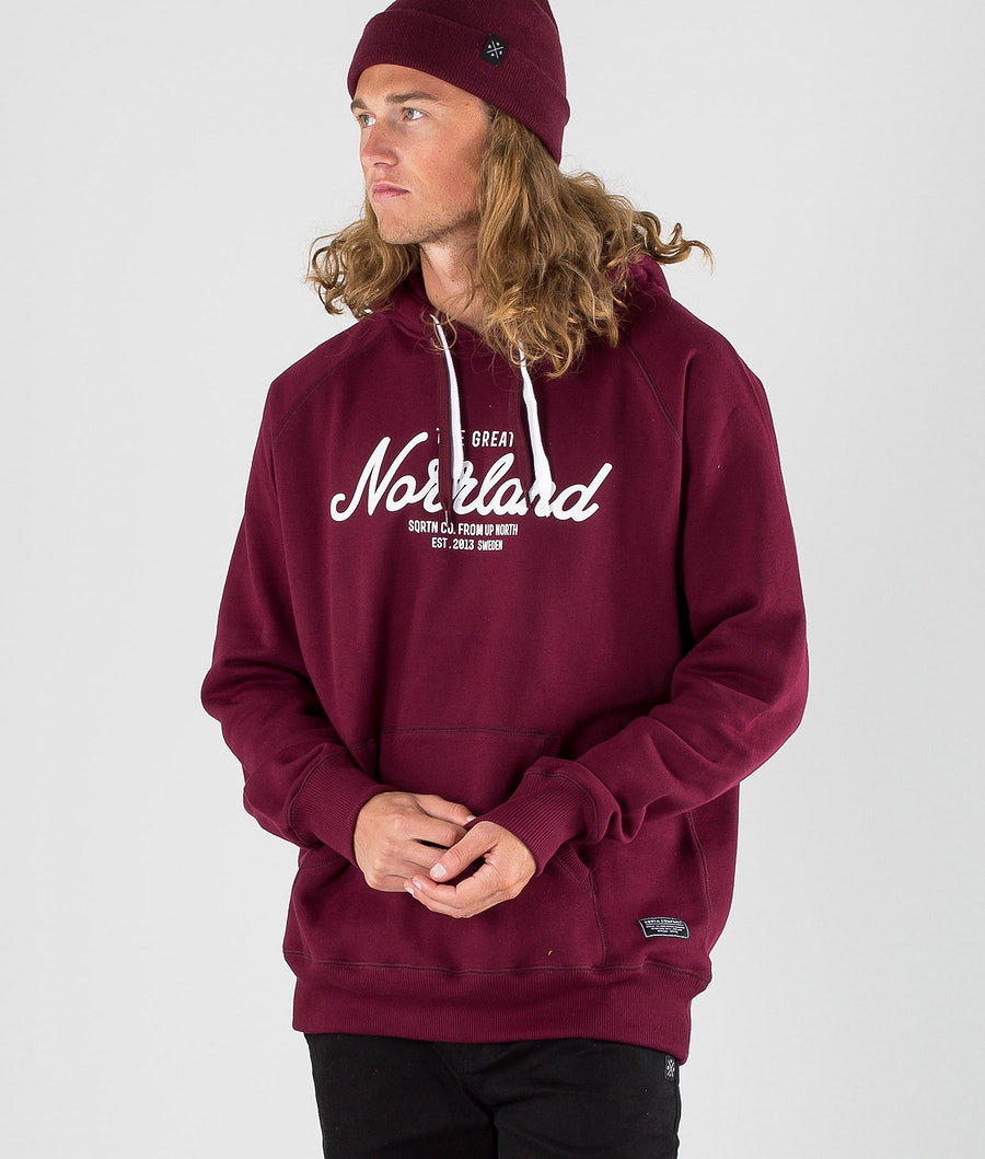 SQRTN Great Norrland Hoodie Dark Burgundy
