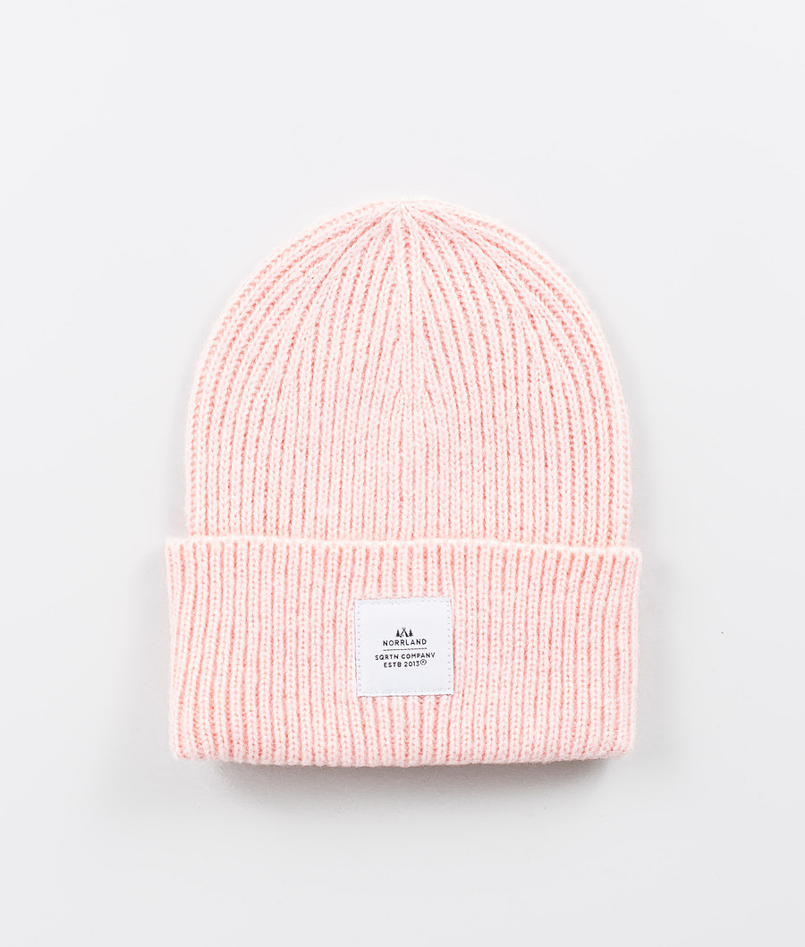 SQRTN Wood Raw Beanie Light Pink