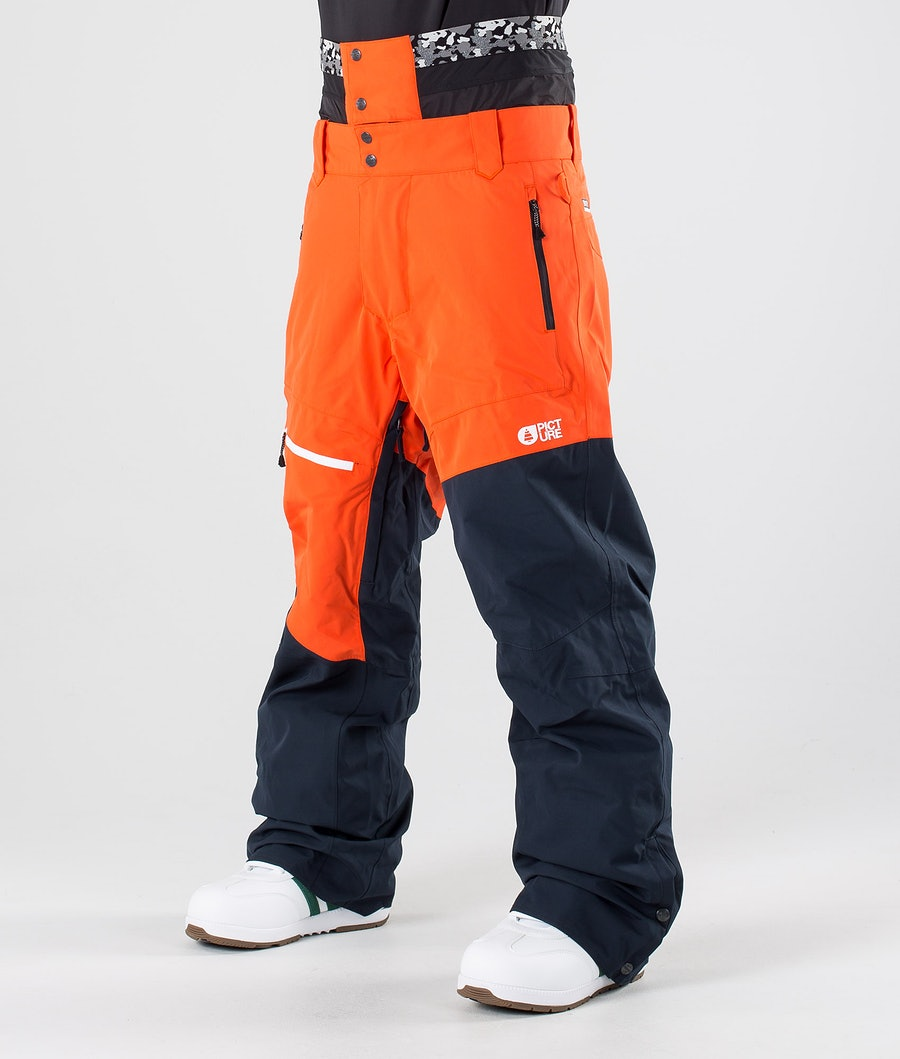 Picture Alpin Pantaloni da snowboard Orange Dark Blue