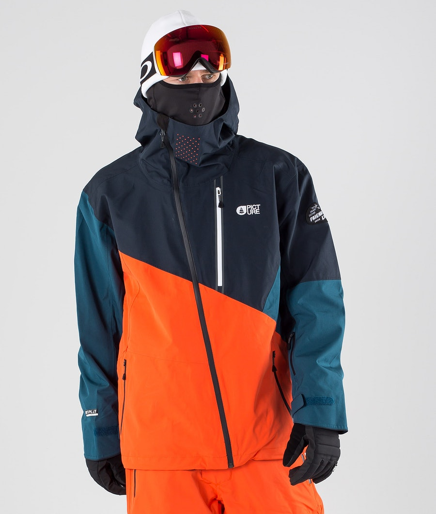 Picture Alpin Giacca da snowboard Orange Dark Blue