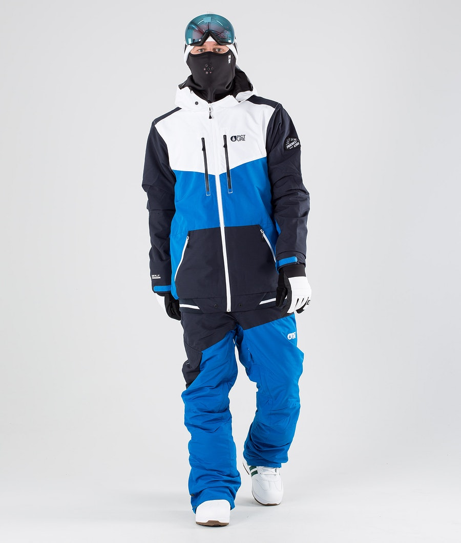 Picture Panel Snowboardjacka Blue