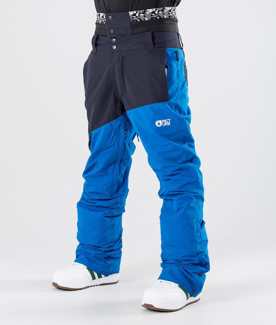 Picture Panel Snow Pants Blue