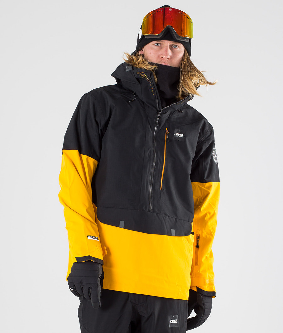 Picture Anton Snowboardjacka Black Yellow