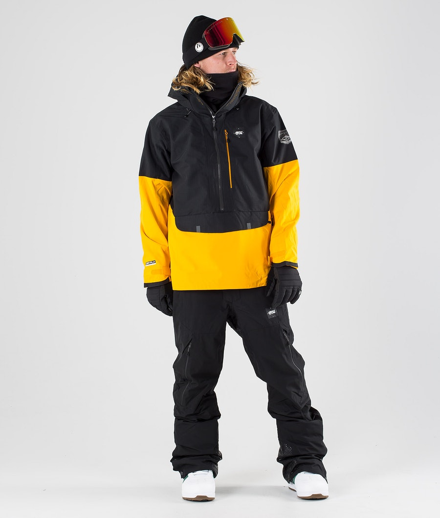 Picture Anton Snowboard Jacket Black Yellow