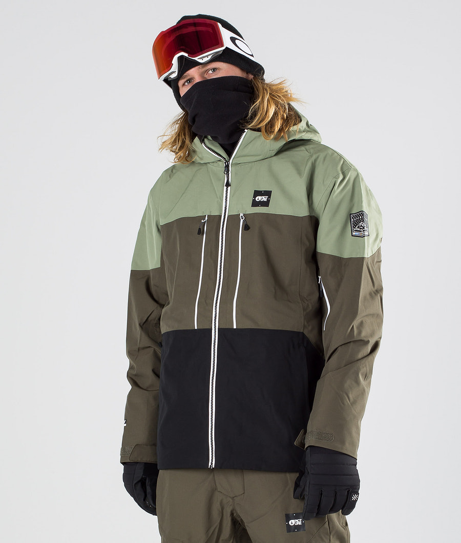Picture Object Snowboardjacka Dark Army Green
