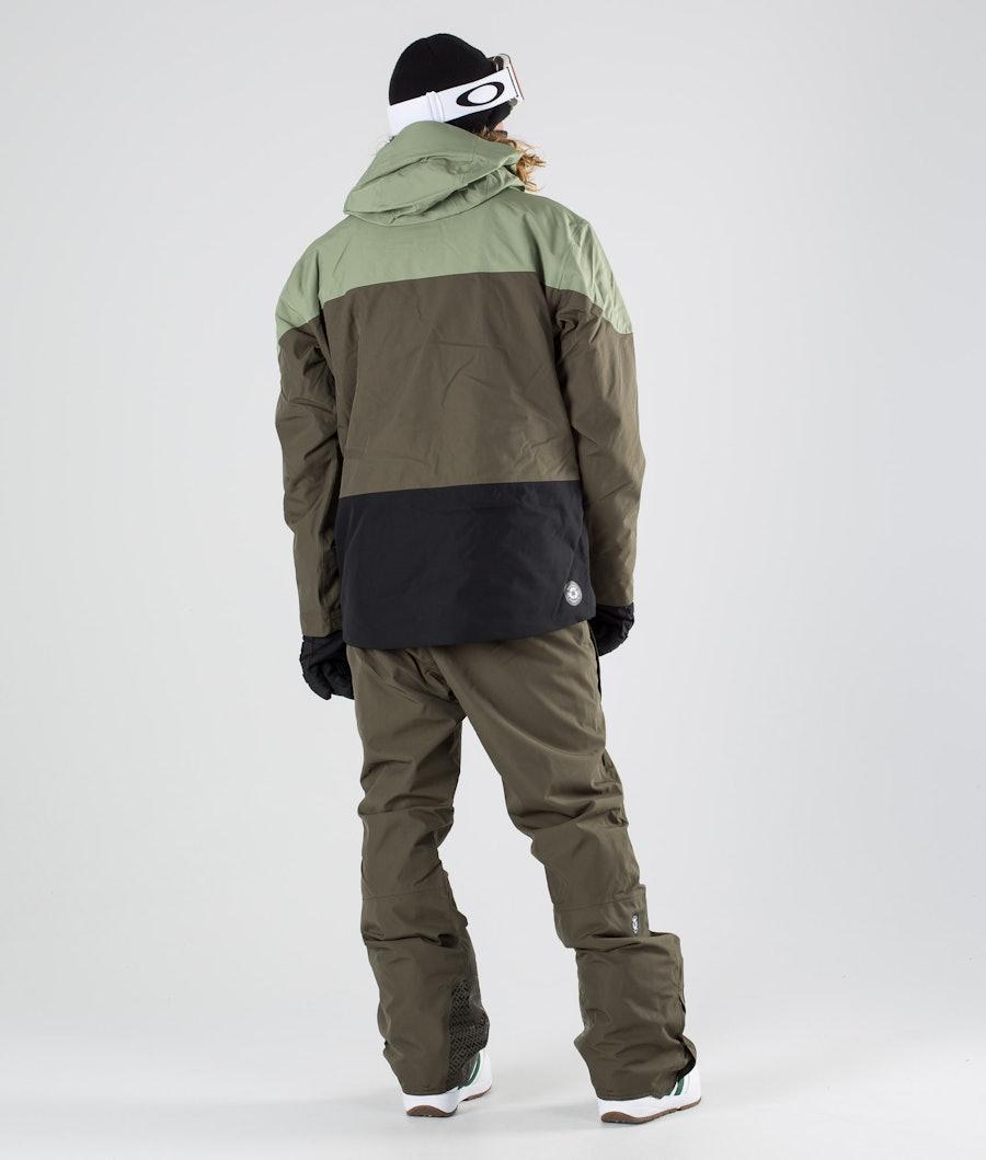 Picture Object Snowboardjacka Dark Army Green