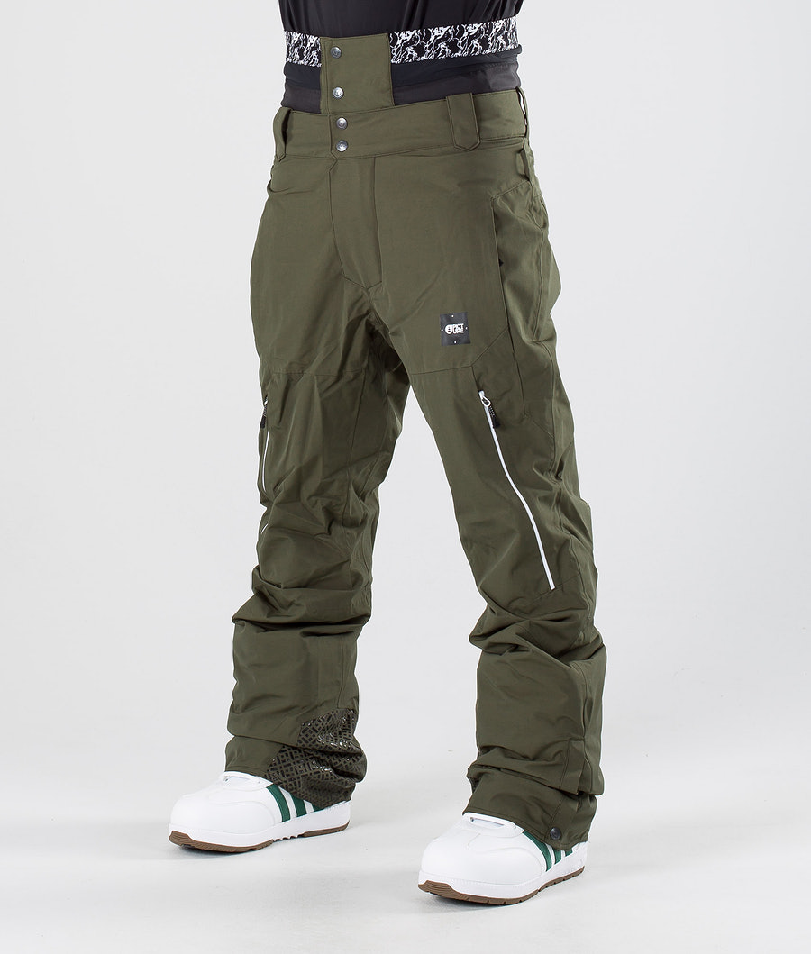 Picture Object Snowboardhose Dark Army Green