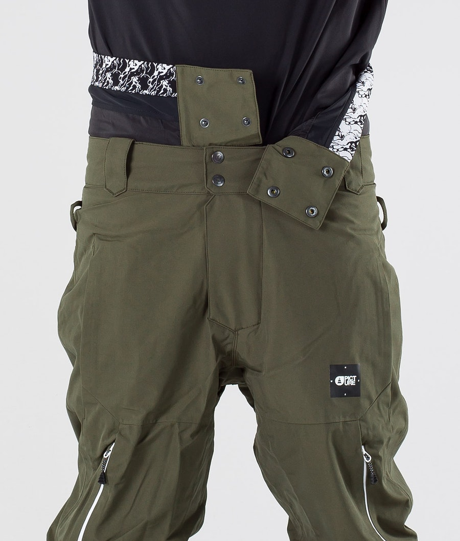 Picture Object Snow Pants Dark Army Green