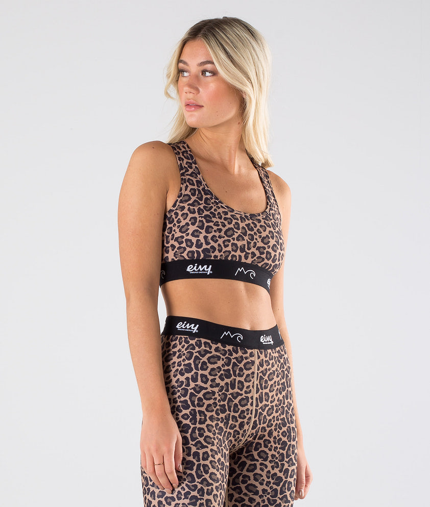 Eivy Shorty Sports Bra Singlet Leopard
