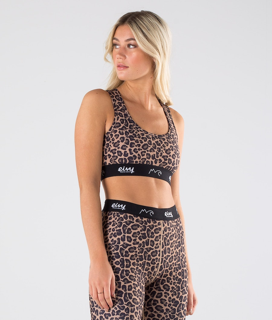 Eivy Shorty Sports Bra Linne Leopard