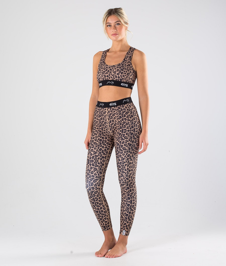 Eivy Shorty Sports Bra Linne Dam Leopard