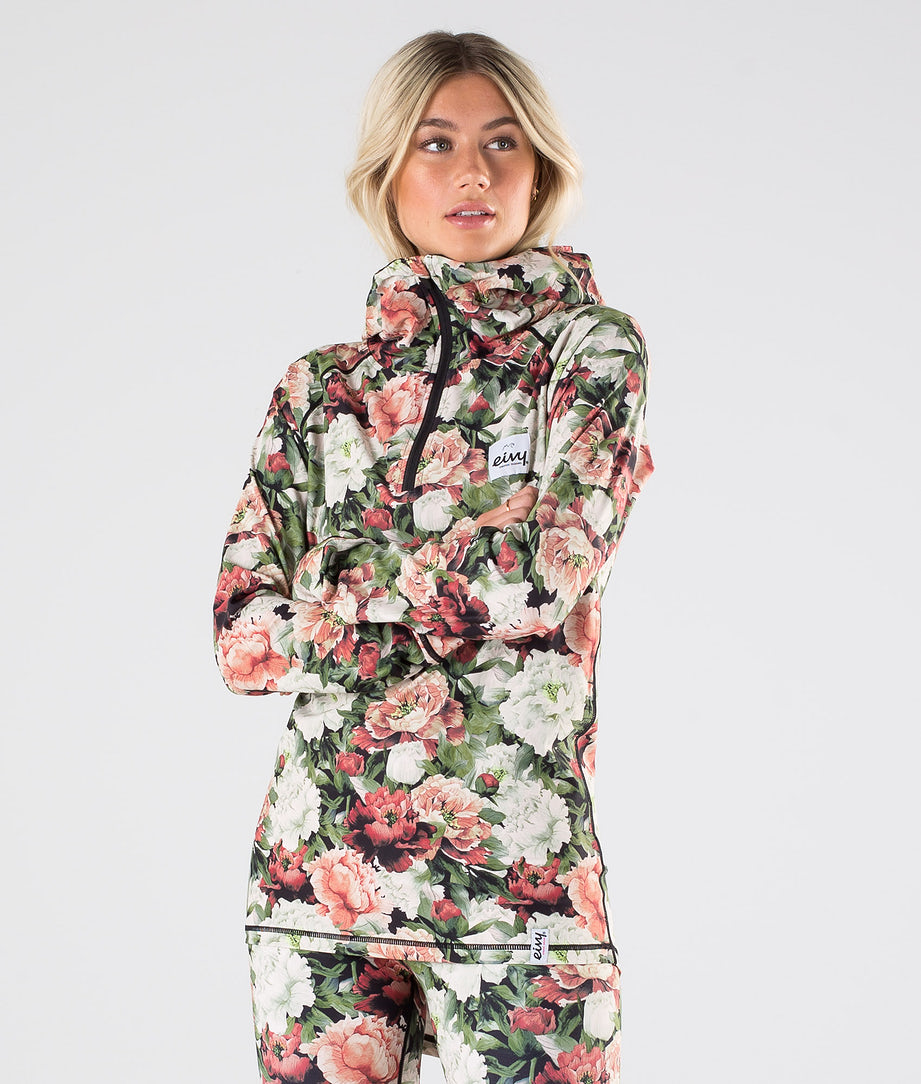 Eivy Icecold Zip Hood Top Base Layer Top Autumn Bloom