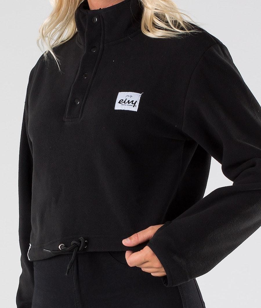 Eivy Meg Fleece Cropped Jakke Dame Black