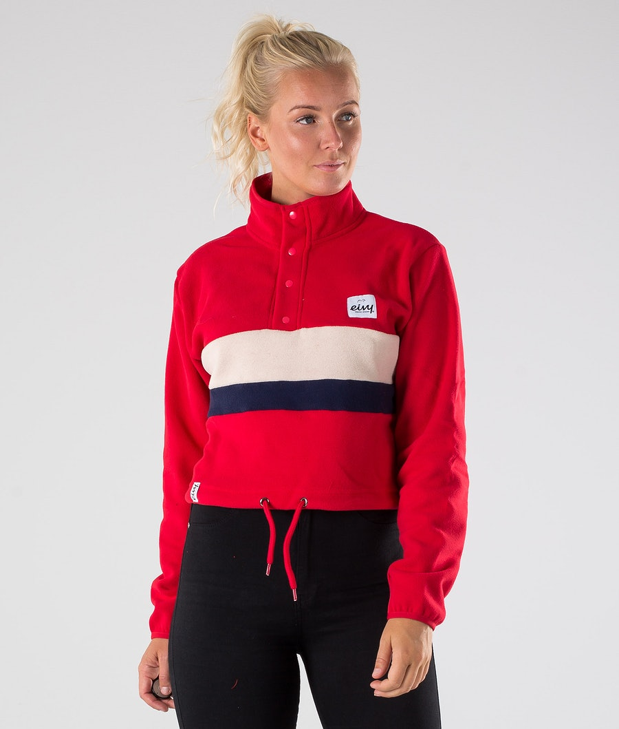 Eivy Meg Fleece Cropped Jacka Red