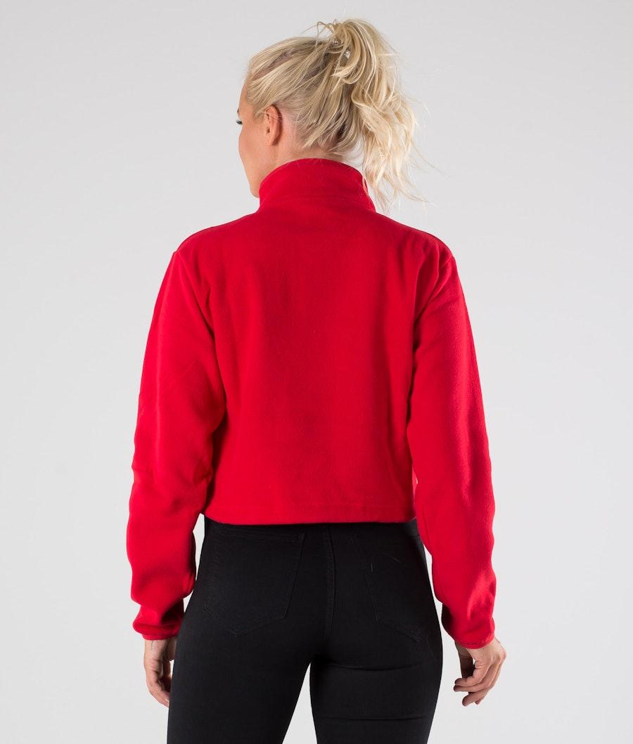 Eivy Meg Fleece Cropped Jakke Dame Red