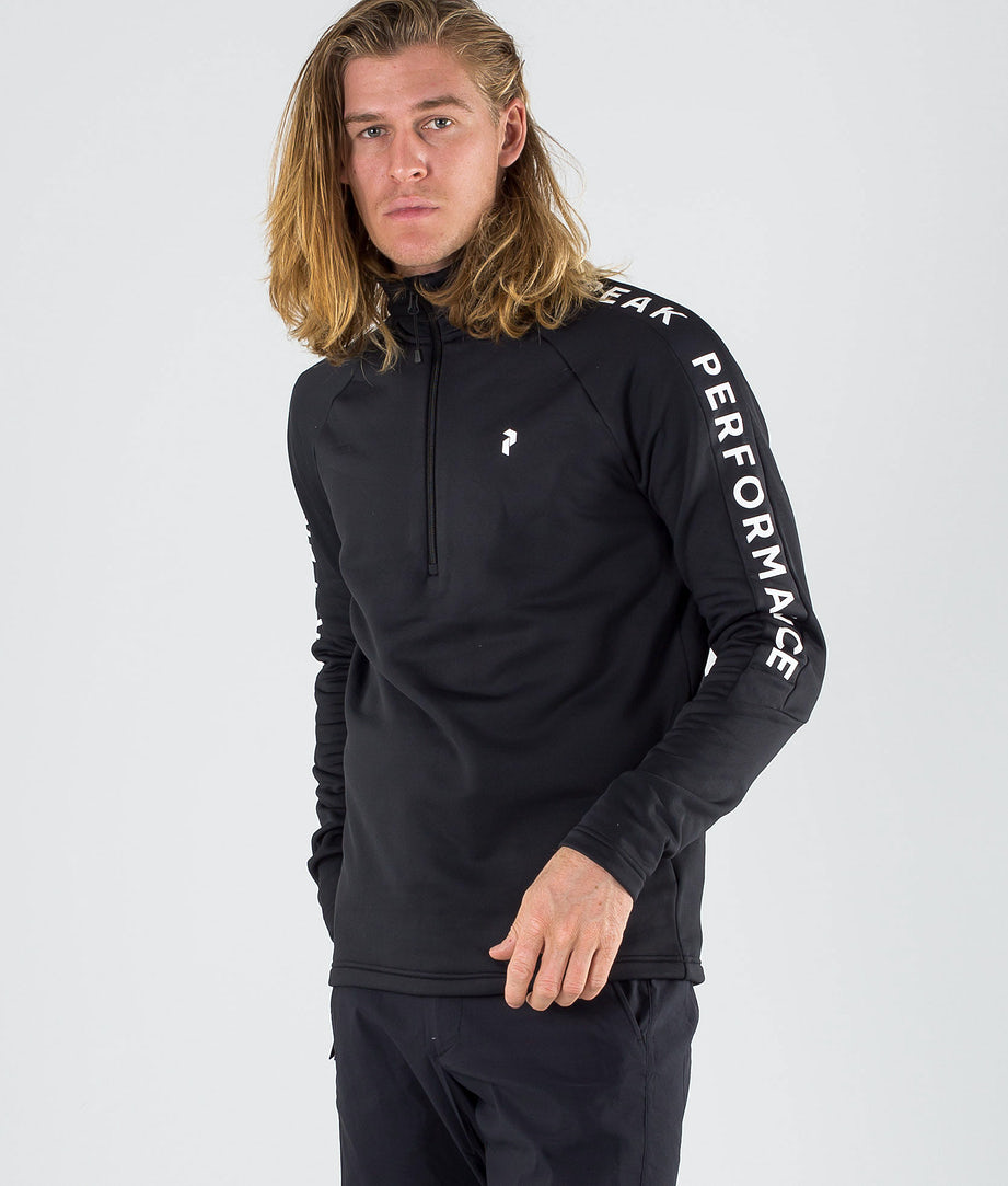 Peak Performance Ride Half Zip Hoodie Black