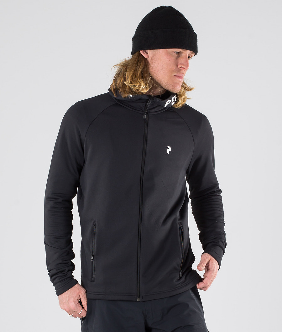Peak Performance Rider Zip Huppari Black