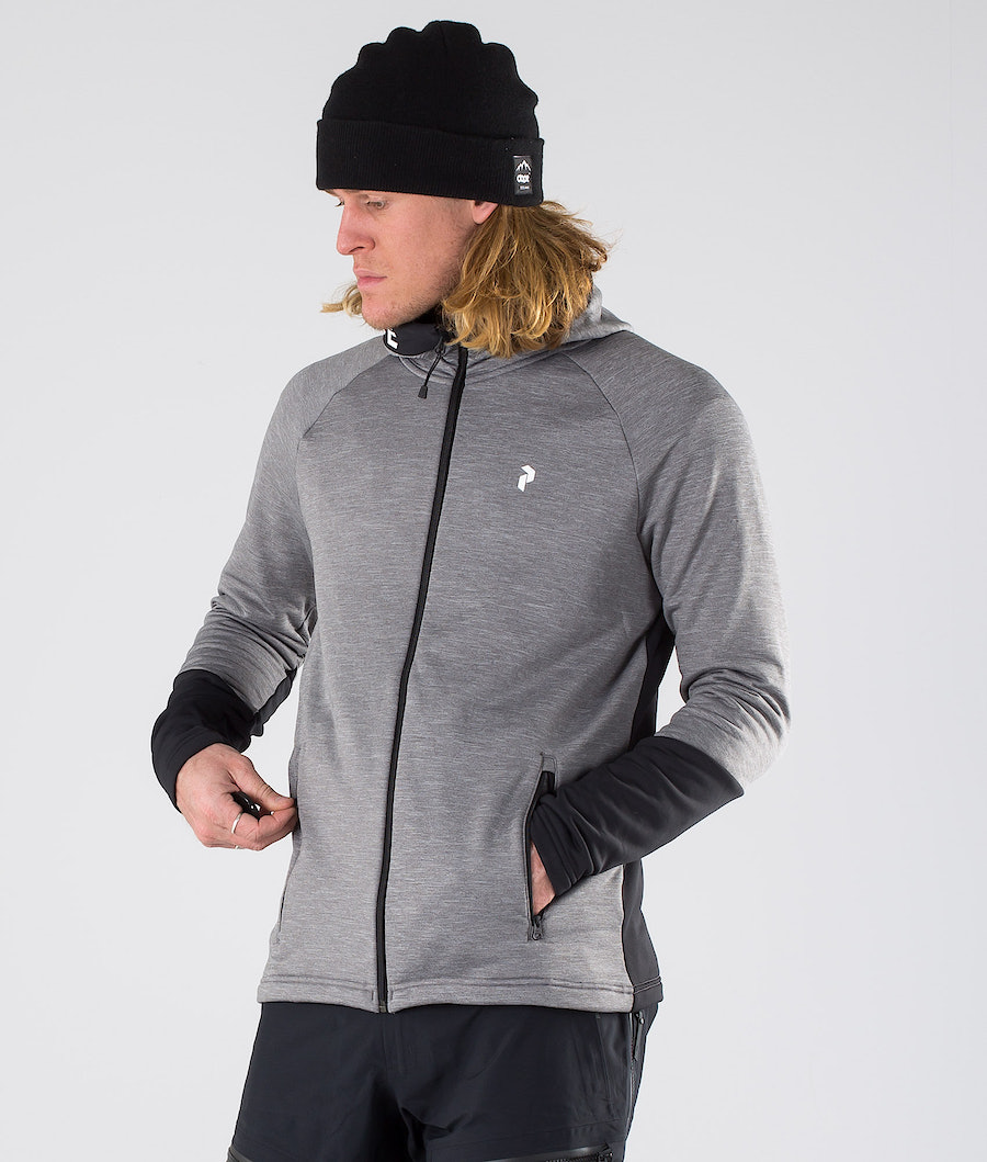 Peak Performance Rider Mel Zip Huppari Grey melange