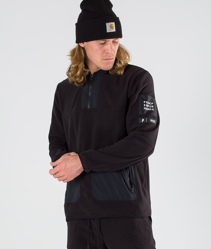 Peak Performance 2.0 Fleece/Woven TN Tröja Black