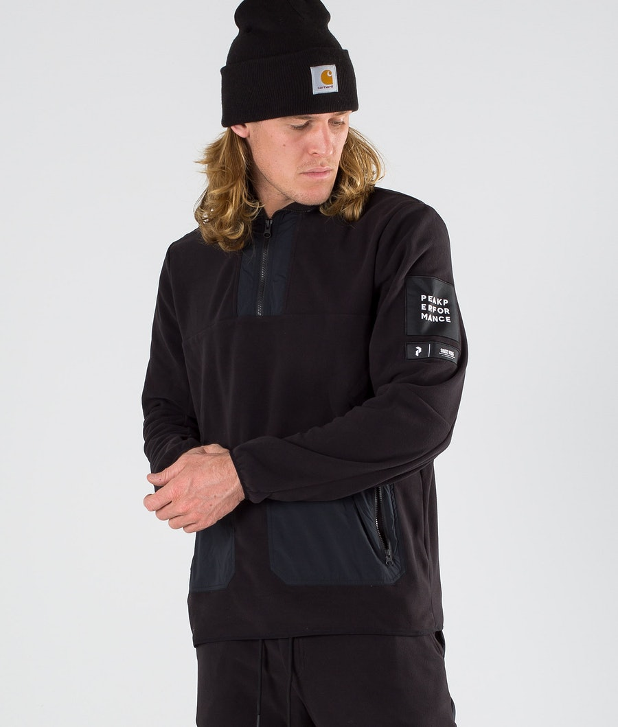 Peak Performance 2.0 Fleece/Woven TN Felpa Pile Black