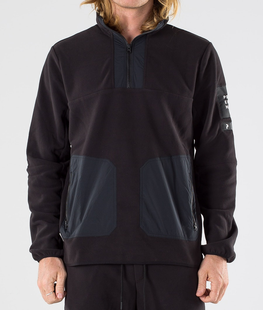 Peak Performance 2.0 Fleece/Woven TN Fleecetröja Black