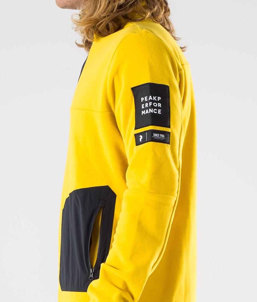 Peak Performance 2.0 Fleece/Woven TN Fleecepullover Yellow Flow