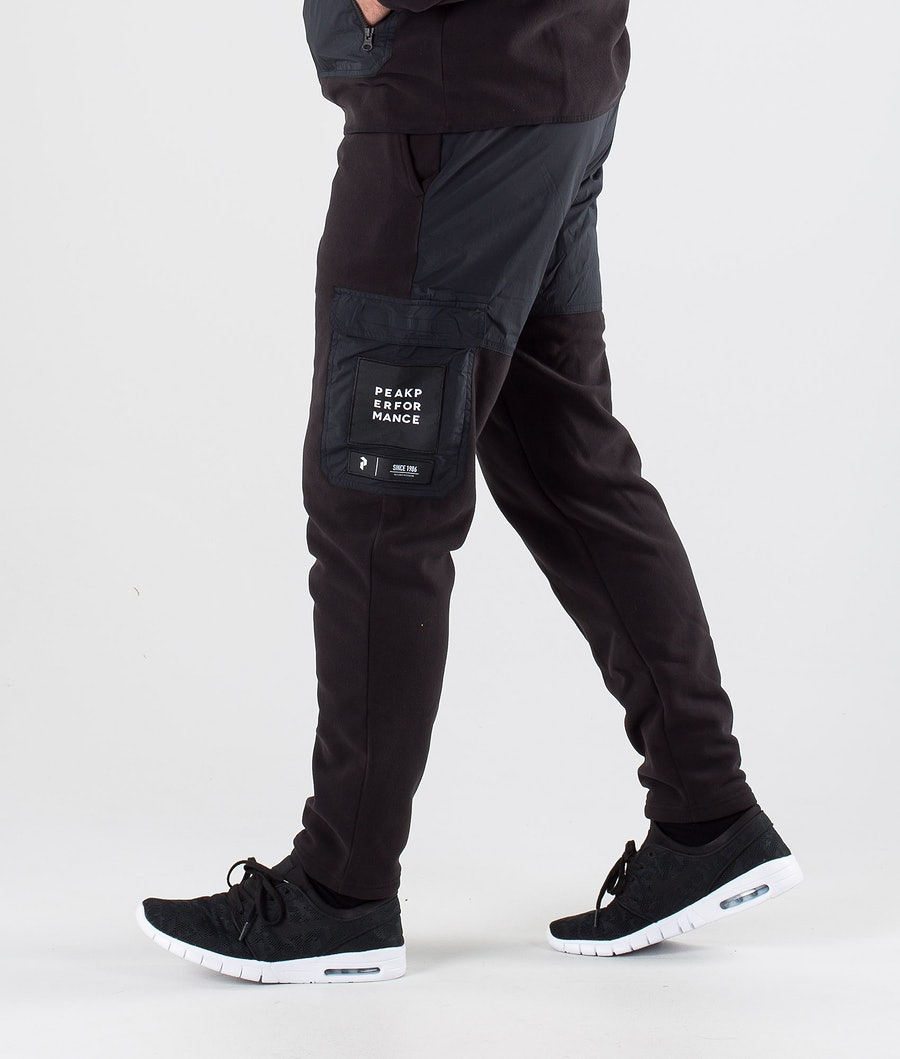 Peak Performance 2.0 Fleece Woven Fleecebyxa Black