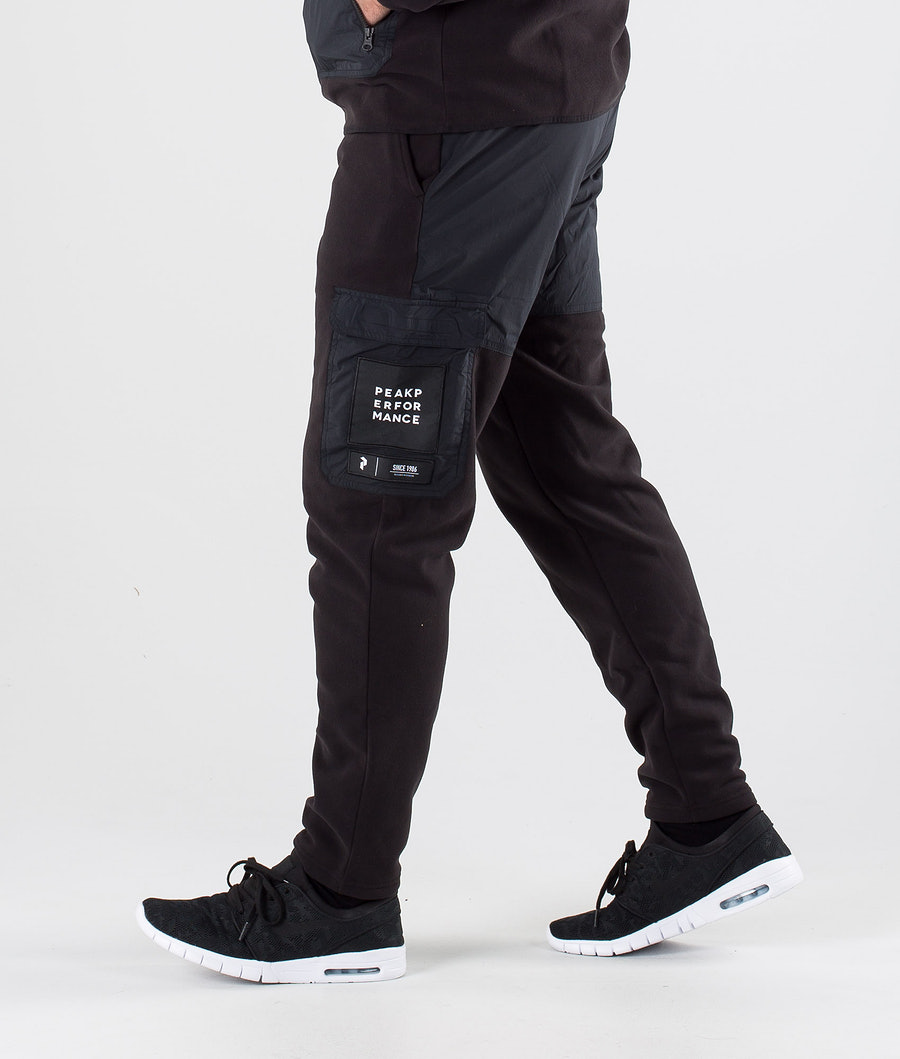 Peak Performance 2.0 Fleece Woven Pantalon Black