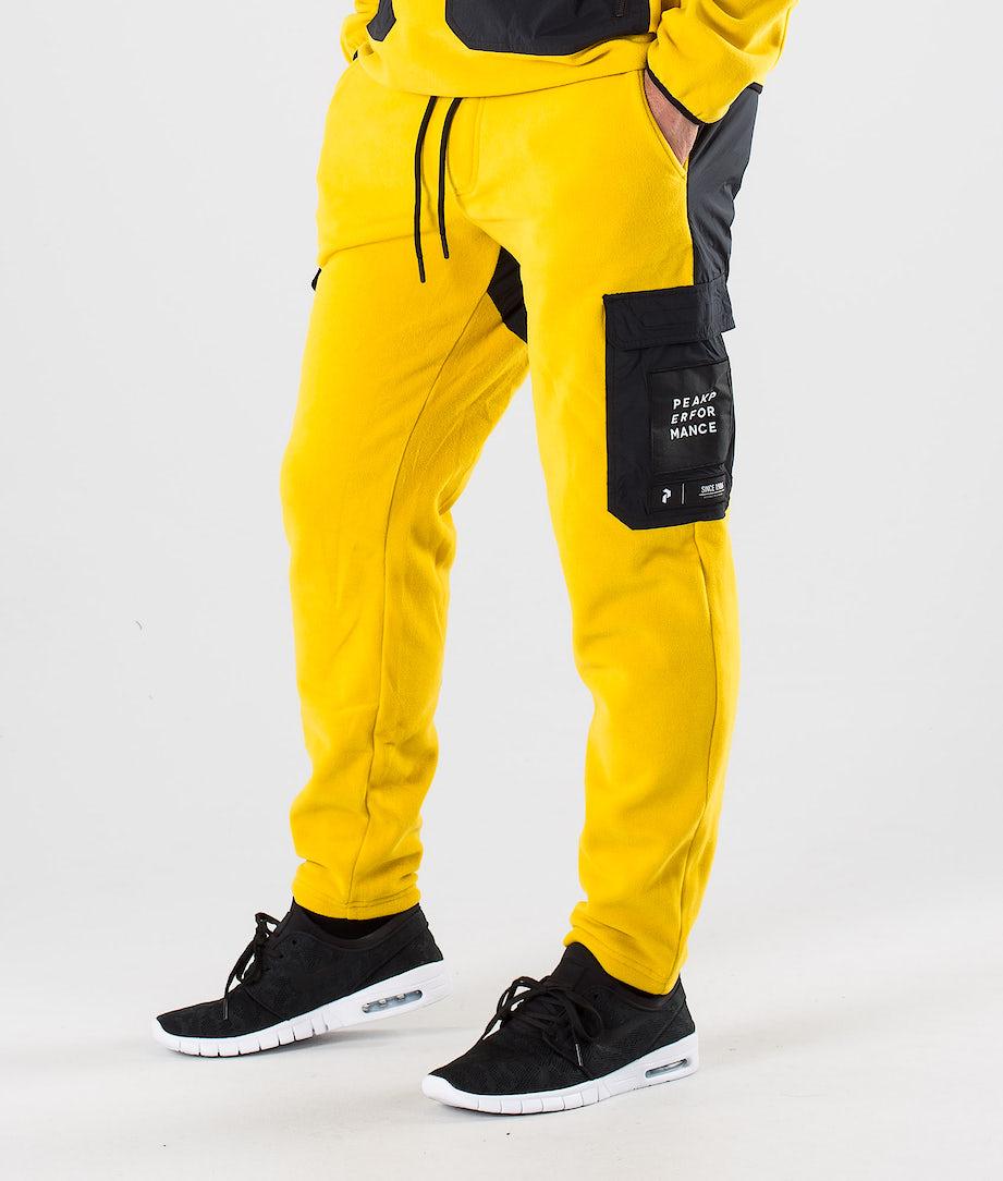 Peak Performance 2.0 Fleece Woven Pantalon Yellow Flow