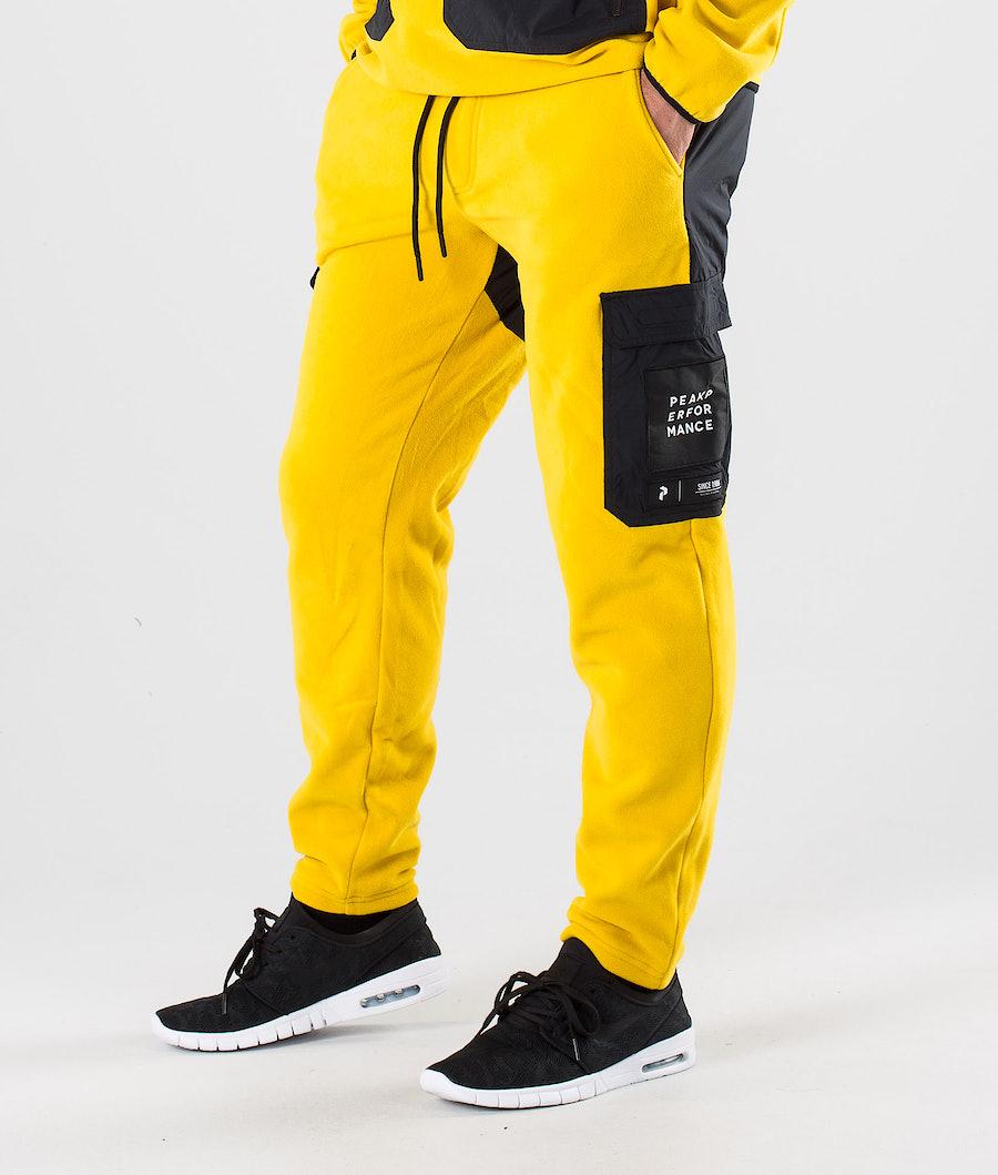 Peak Performance 2.0 Fleece Woven Pants Yellow Flow