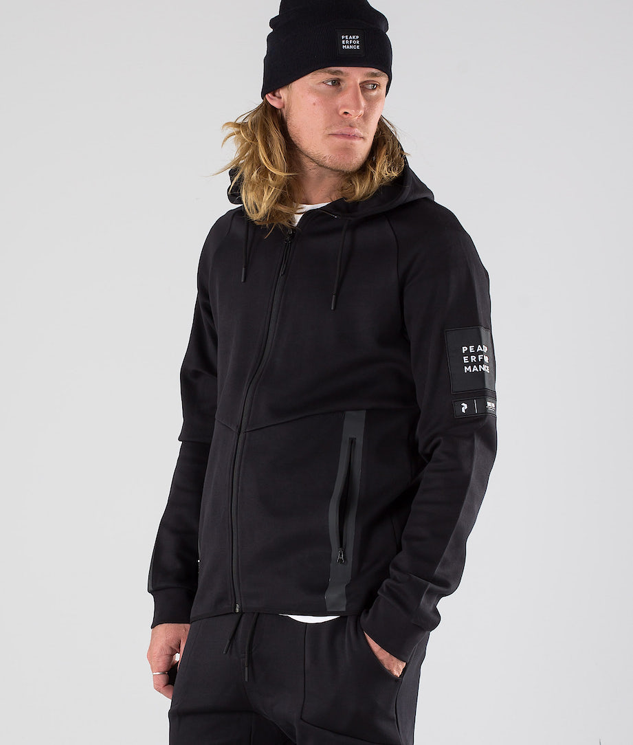 Peak Performance Tech Zip Hoodie Black