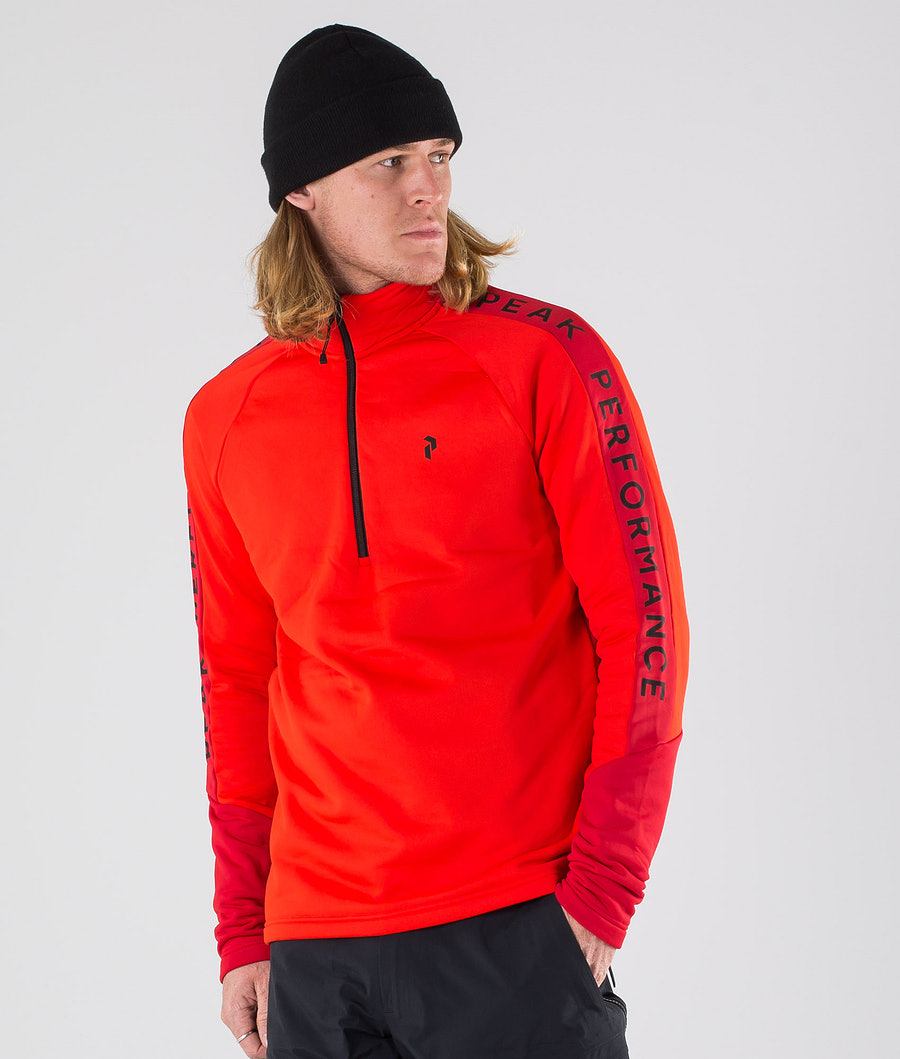 Peak Performance Ride Half Zip Huppari Dark Chilli