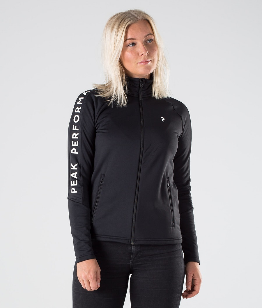 Peak Performance Rider Zip Felpa Black