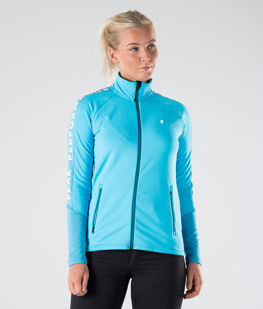 Peak Performance Rider Zip Sweatshirt Glacier Glow