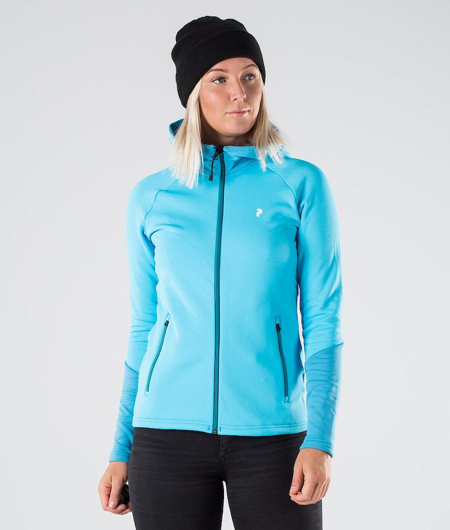 Peak Performance Rider Zip Hood Glacier Glow