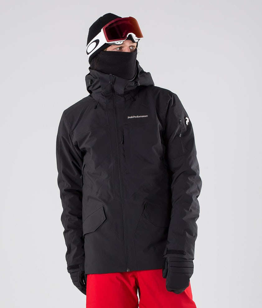 Peak Performance Maroon Long Snowboard Jacket Black
