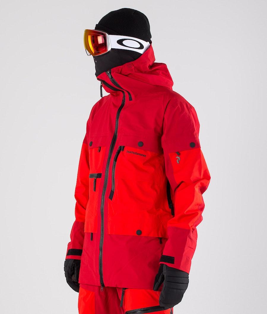 Peak Performance Vertical Giacca da snowboard Dark Chilli