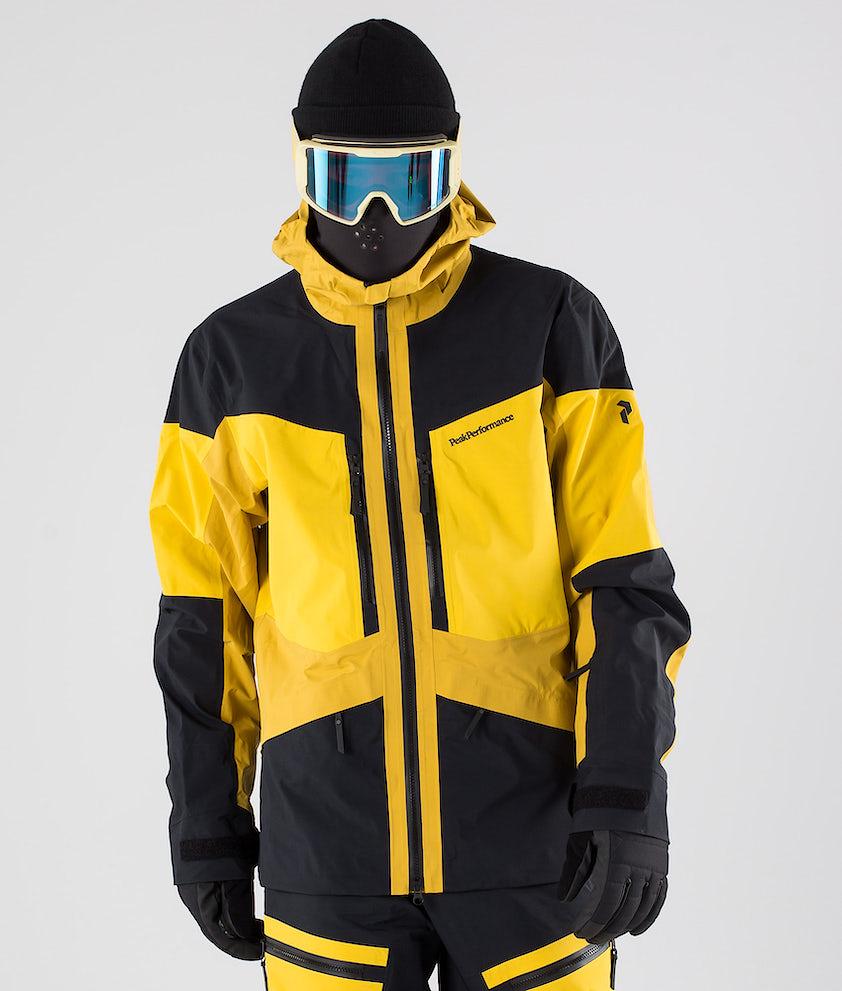Peak Performance Gravity Snowboardjakke Yellow Flow