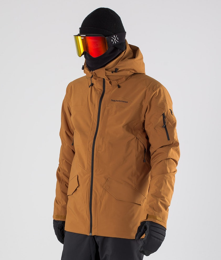 Peak Performance Maroon Long Snowboardjacka Honey Brown