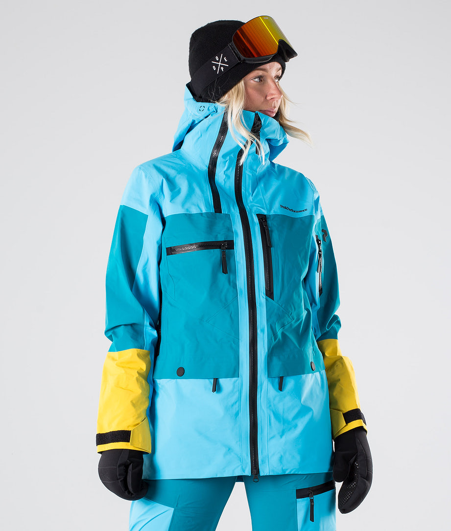 Peak Performance Vertical Snowboardjakke Deep Aqua