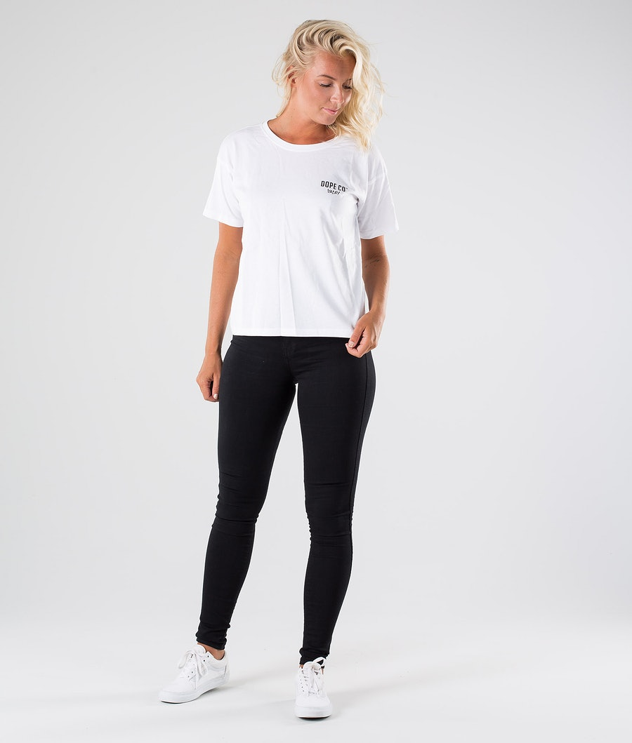 Dope Grand Flamingo T-shirt Dame White