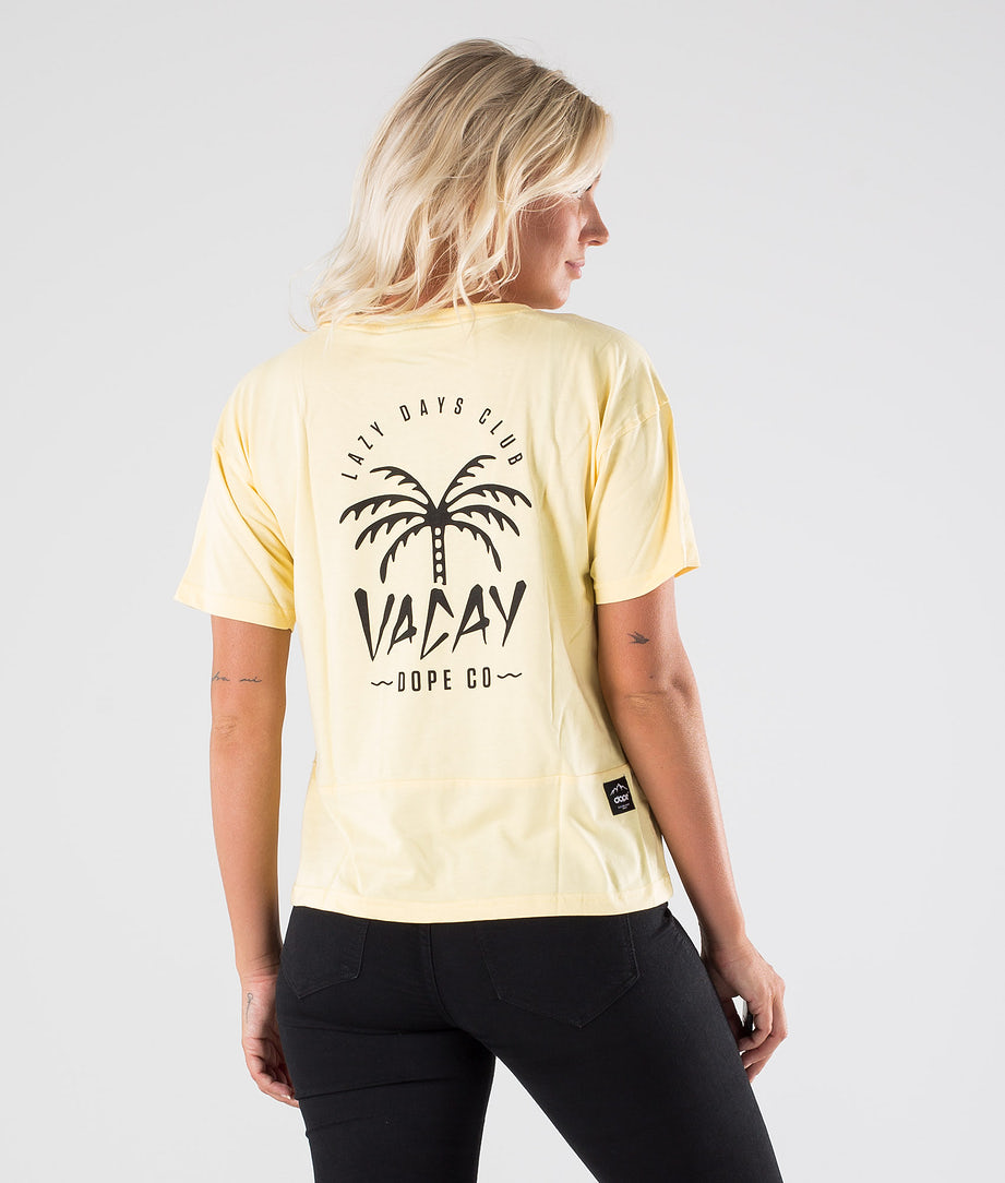 Dope Grand Palm T-shirt Yellow