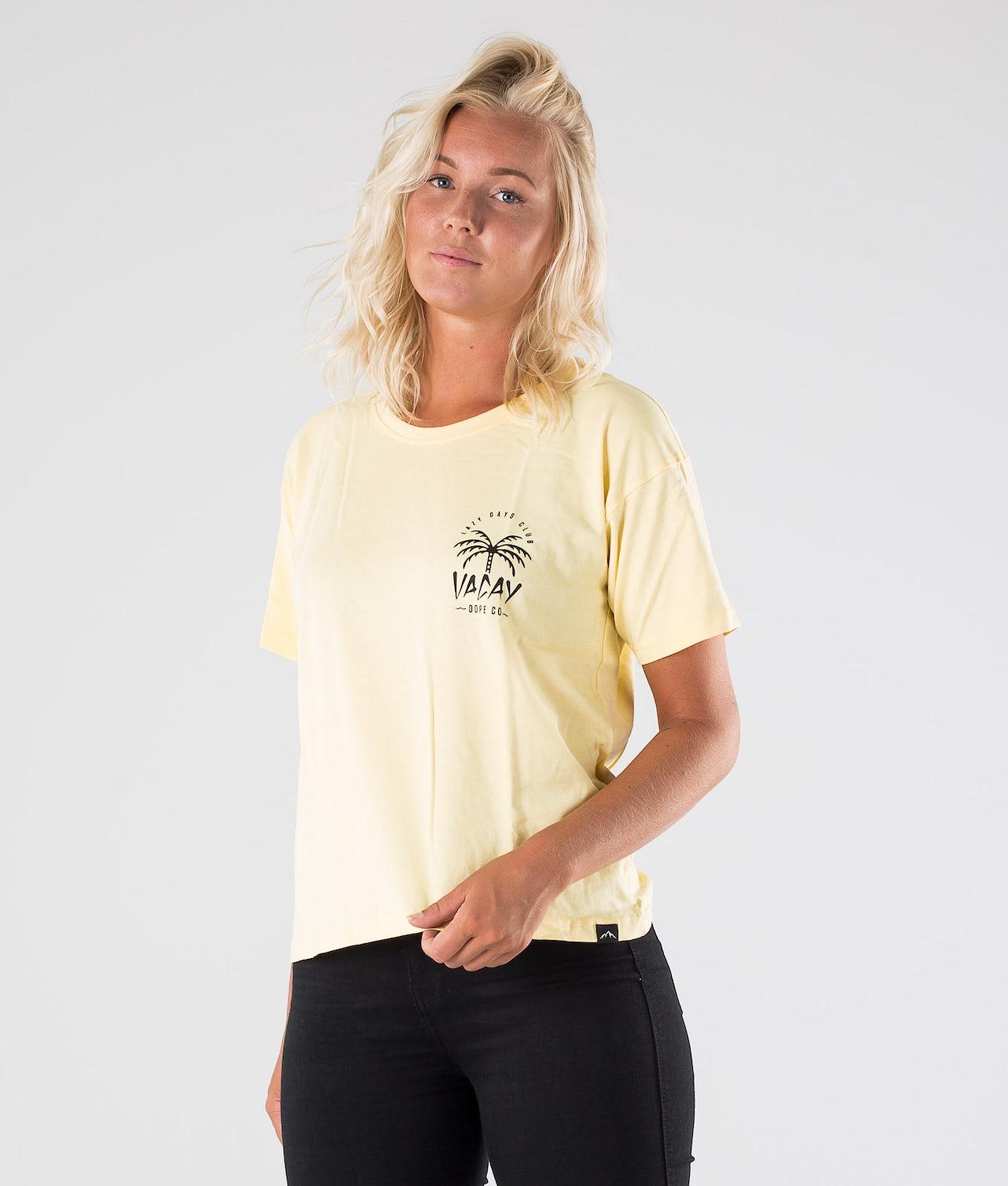 Dope Grand Palm T-shirt Yellow