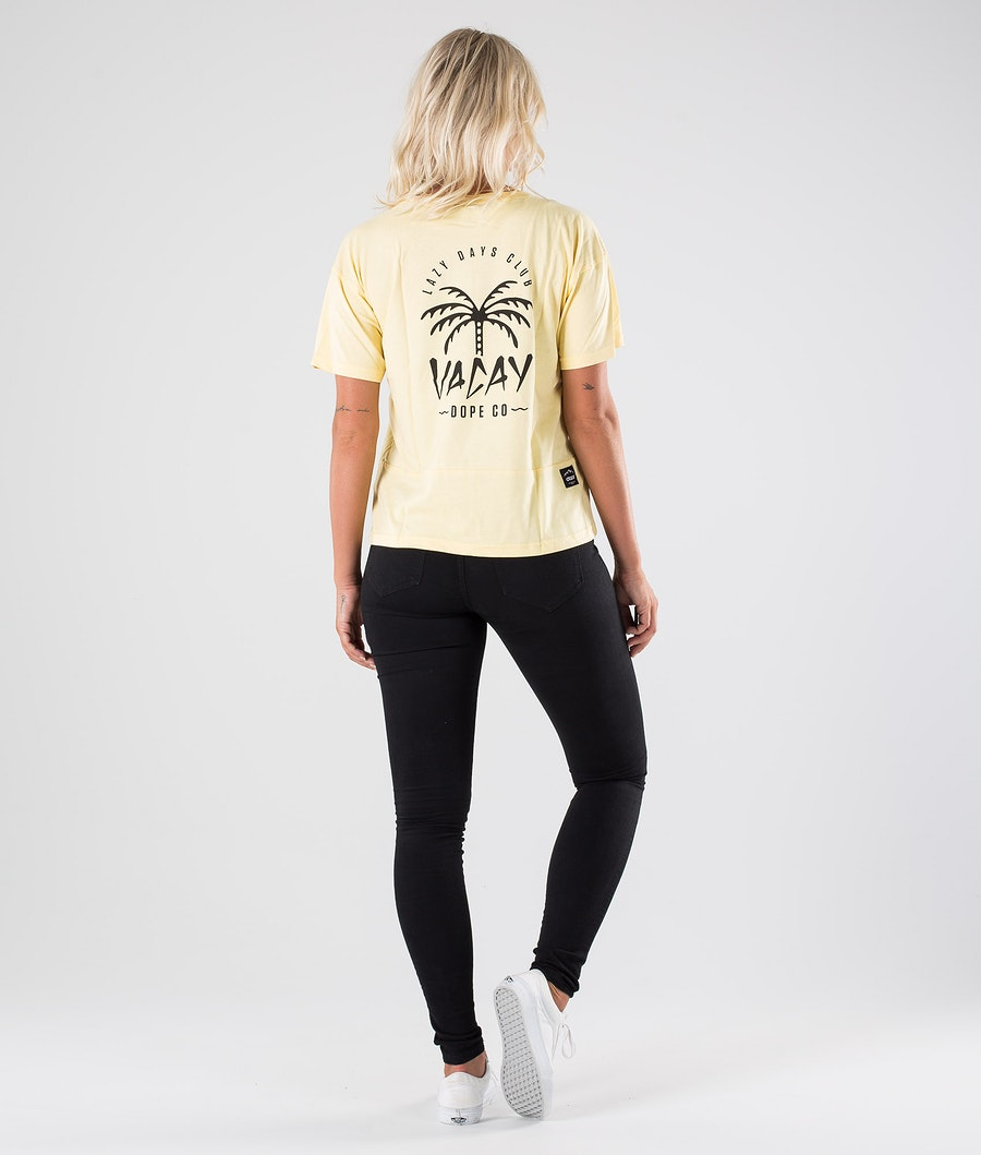 Dope Grand Palm T-shirt Dame Yellow