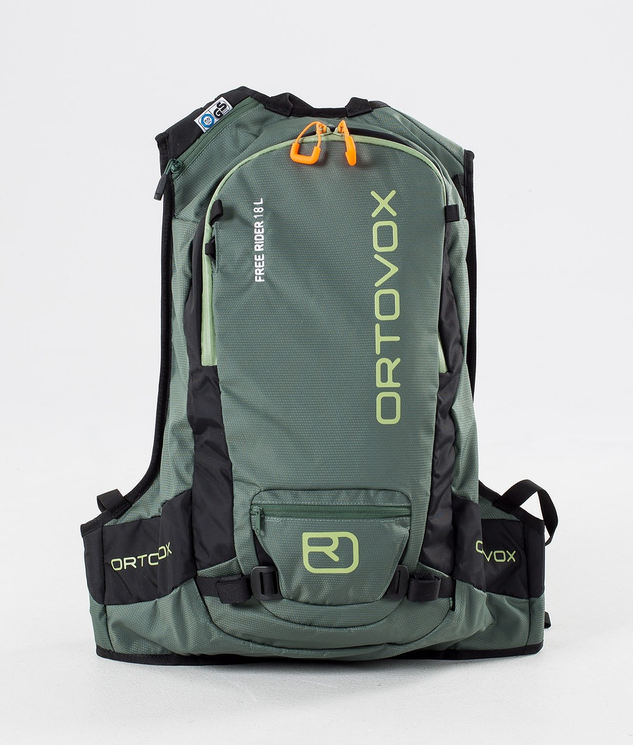 Ortovox Free Rider 18 L Snow Bag Green Forest