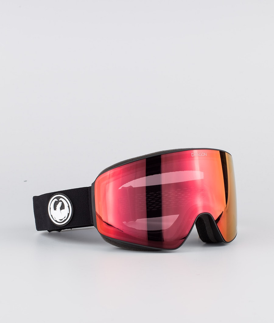 Dragon PXV Ski Goggle Black w/Lumalens Red Ion+Lumalens Rose