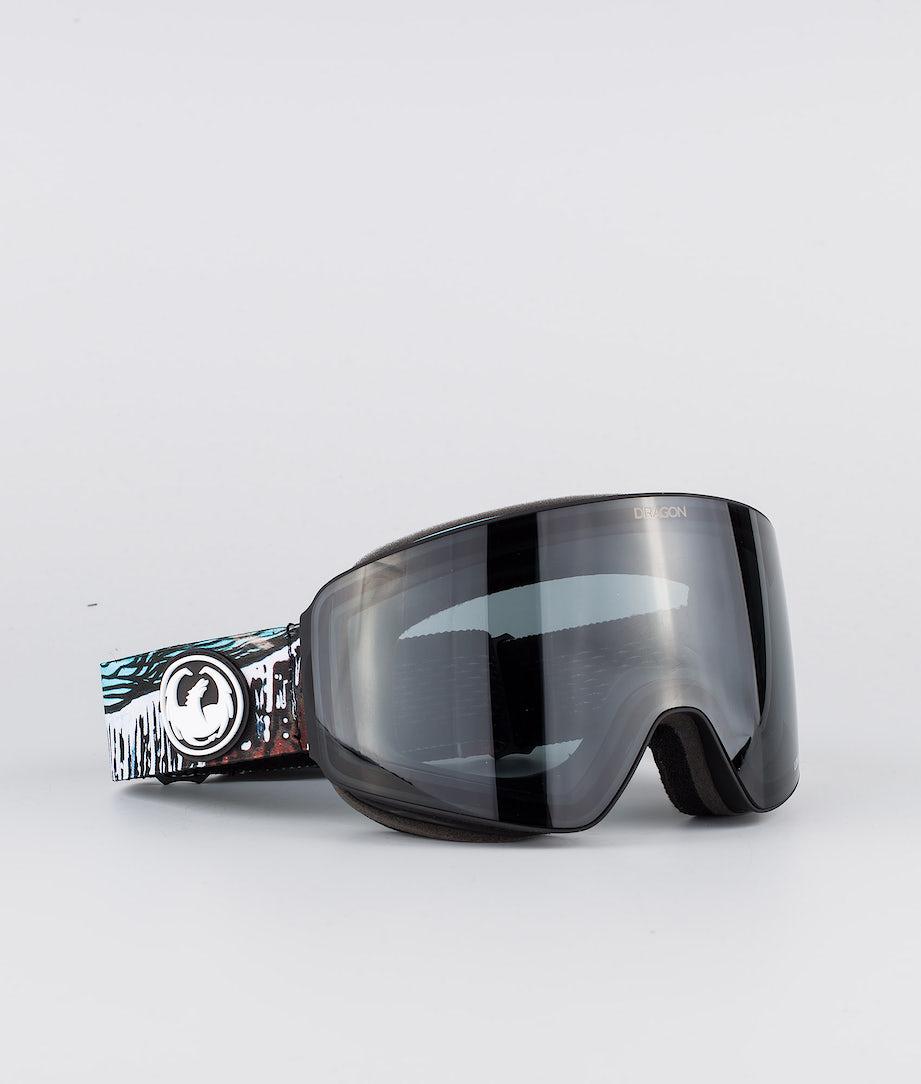 Dragon PXV Ski Goggle Bryan Iguchi Signature 19 w/Lumalens Dark Smoke+Llflashblue