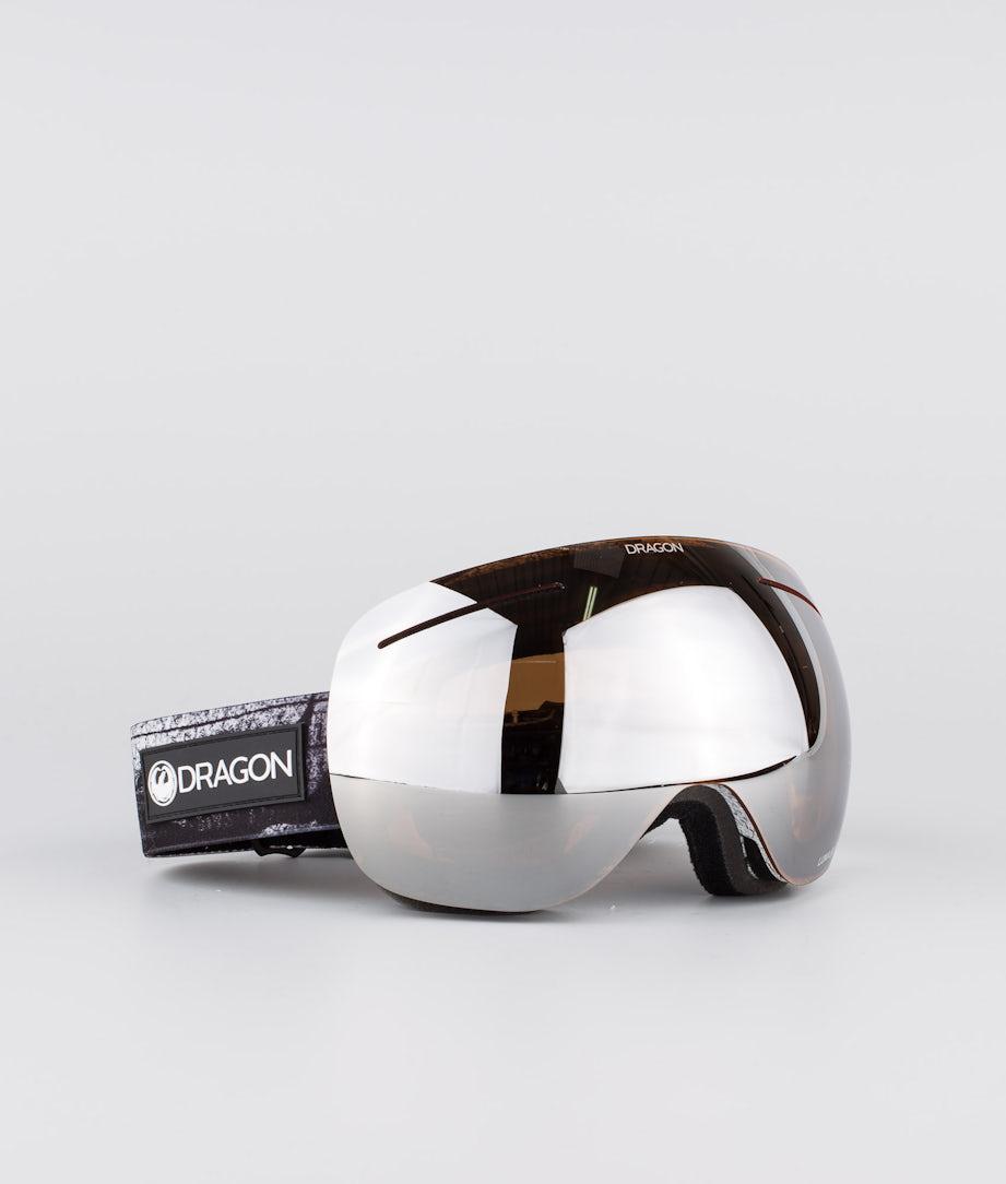 Dragon X1 Ski Goggle Torn Birch w/Lumalens Silver Ion+Lumalens Flash Blue